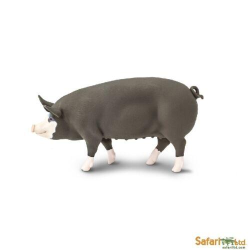 Safari Ltd 161929 Berkshire-Schwein 11 cm Serie Fattoria