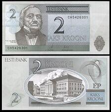 Estonia 2 KROONI 2007 P 85b UNC