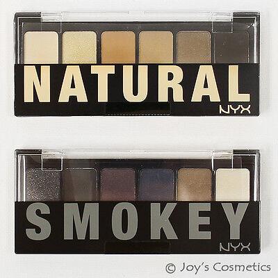 "2 NYX The Natural / Smokey Shadow Palette - "" TNS01 + TSS01 ""  *Joy's cosmetics*"