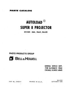 Details about Bell & Howell 346 Autoload 8 Movie Projector Parts Manual