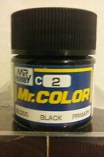 Gunze Sangyo Mr. Color acrylic paint,  C2 Gloss Black 10ml