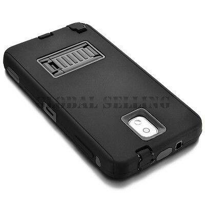 For Samsung Galaxy Note 3 4 Shockproof Hybrid Hard Durable Dual Cover Case