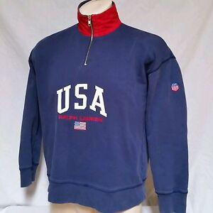 K Sport Usa Lauren 90s Bear Stadium Polo Details Small About Ralph Sweatshirt Vtg Fleece Swiss Nnw80vmO