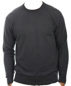 Balldiri Cashmere L Cashmere 100 Pullover Exclusive Antracite Uomo Girocollo 7qg1Ax7