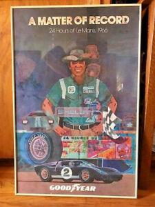 FORD VS FERRARI original poster A MATTER OF RECORD Le Mans 1966 Shelby framed | eBay