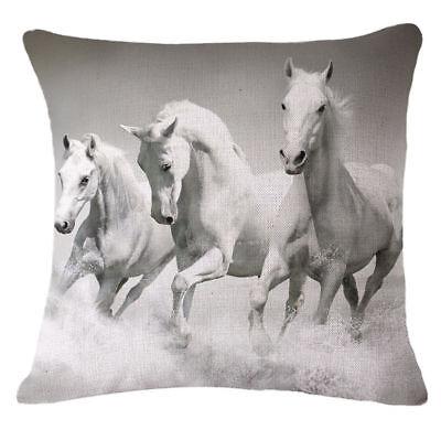 Cat Horse Linen Home Decor Throw Pillow Case Sofa Cushion Cover Car Pillowcase