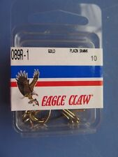 EAGLE CLAW LAZER PLAIN SHANK OFFSET SNELL 5//0 GOLD 178 HOOK CHOOSE QTY 25,50,100