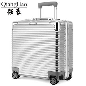 99c6f0d8e805 Details about 17 inch Aluminum frame+PC Rolling Luggage Travel Suitcase  Bag,Men Trolley Case