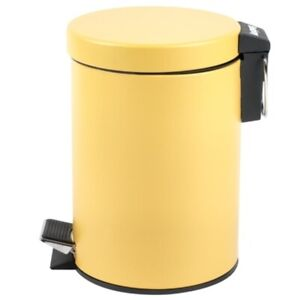 New-Contemporary-Bathroom-Skandi-Soft-Close-Bin-amp-Pedal-For-Convenience-Ochre
