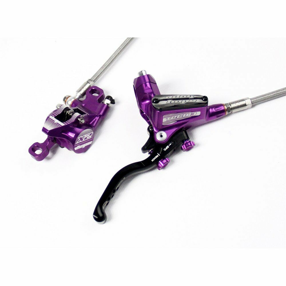 Hope  Tech 3 X2 Braided Hose Brakes - Purple CNC Aluminium  low prices