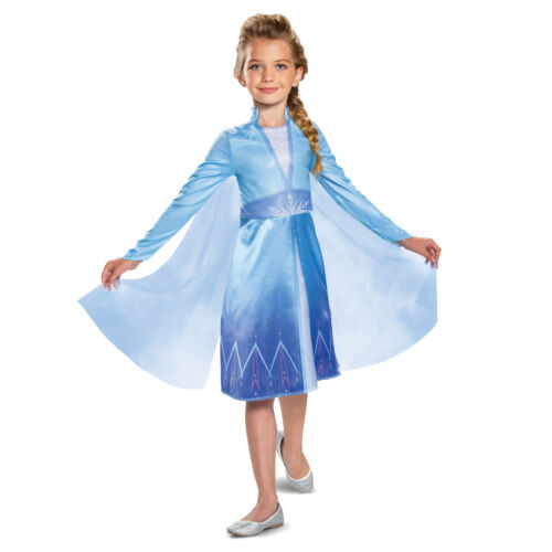 Disney Girls Frozen 2 Elsa Snow Queen Halloween Costume Dress Cape Toddler Child