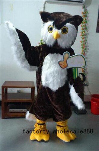 Big Brown Owl Mascot Costume Suit 2018 Adult Professional Hallween Fancy Cosplay