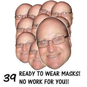39 X Masques amusants personnalisés - Soirée Stag / Hen Envoyez-nous votre photo gratuitement!   7625944788208