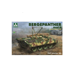 Takom 02102 Bergepanther Ausf D Umbau Seibert 1945 w Interior 1 35 Scale Kit