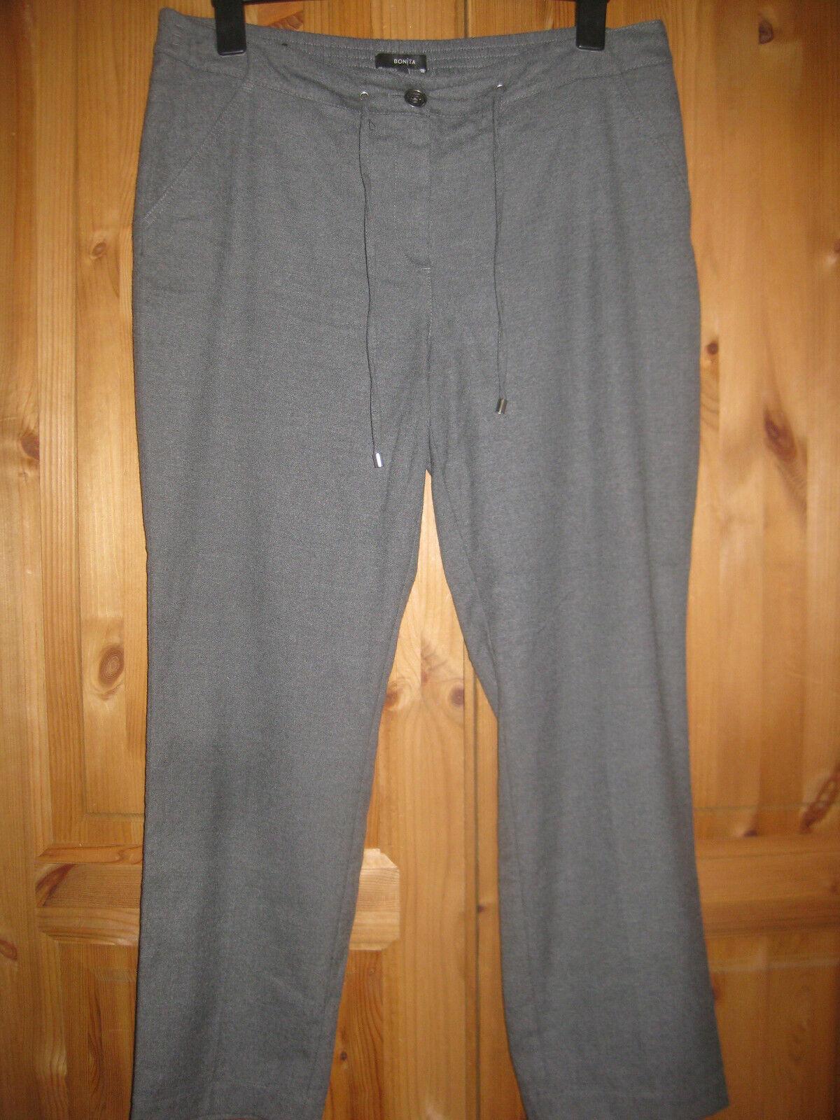 BONITA Damen Hose Gr.46 getragen gepflegt grau/meliert Top