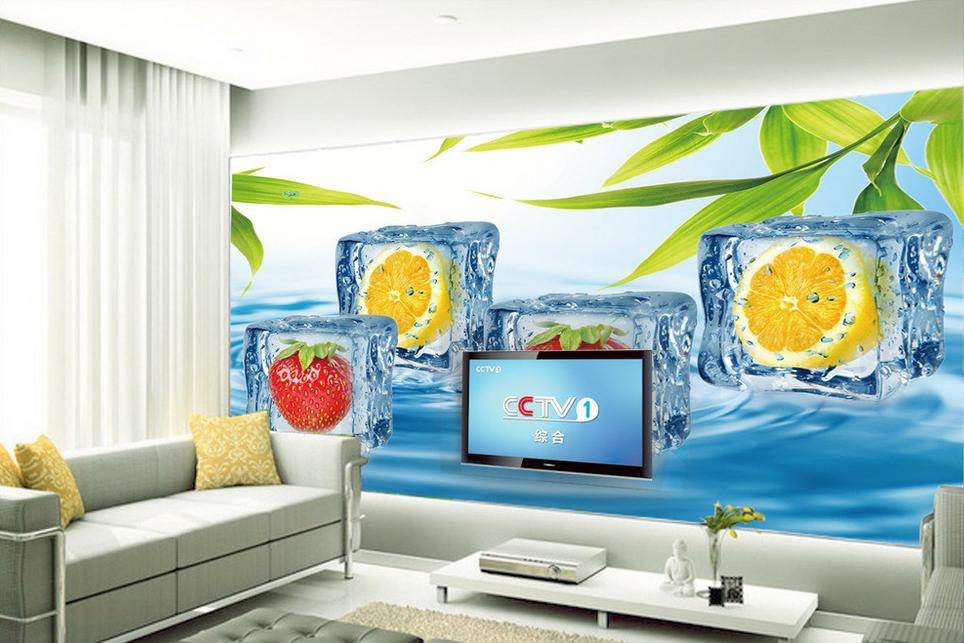 3D Cartoon Pattern Fruit Paper Wall Print Wall Decal Wall Deco Indoor Murals