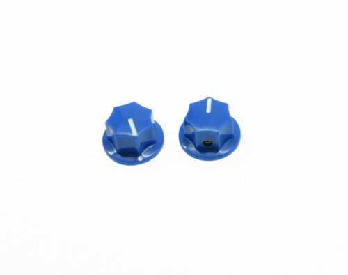 10x Small Size MXR Style Skirted AMP Knob Effects Pedal Knobs Brass Insert