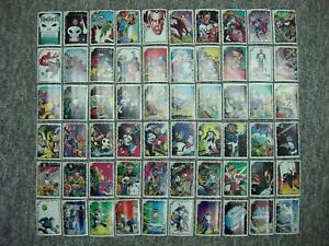 THE PUNISHER PAPERS STICKERS 1990 MARVEL ENT. GROUP COMIC IMAGES (59 DIFF.) RARE
