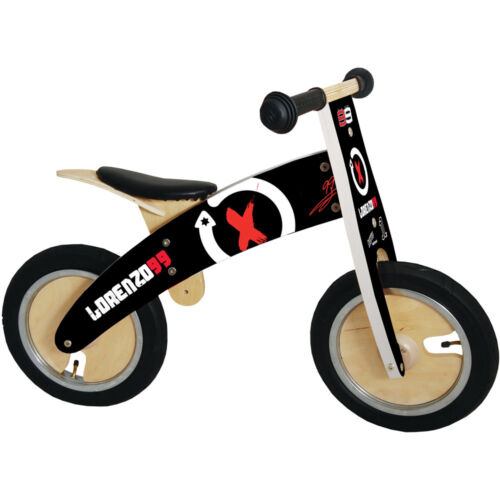 Kiddimoto Kurve Wooden Balance Running Training Walking Bike Cycle Jorge Lorenzo
