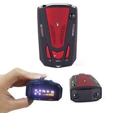360 Degree Car Radar Detector 16 Band Voice Alert Laser V7 LED Display Red USA
