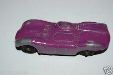 RARE Old Vintage Purple Jaguar Tootsietoy Metal Diecast Toy Car Great Aging