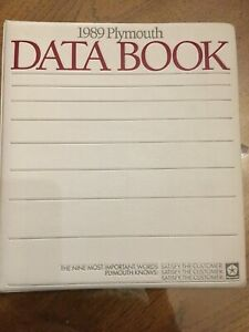1989-Plymouth-Data-Book-Showroom-sales-book