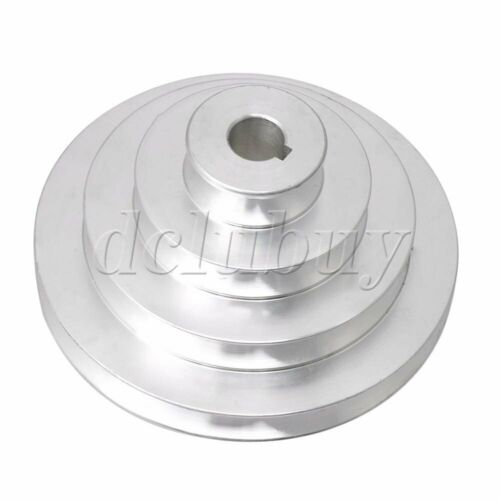 Details about  /Silver Aluminum 4 Step Pagoda Pulley Timing Belt 16mm Bore for A Type V-Belt