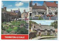 Colour Postcard of 3 Views of Thornton-Le-Dale, Yorkshire
