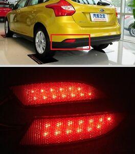 for ford focus 2012 2013 red lens led rear bumper reflector light lamp ebay. Black Bedroom Furniture Sets. Home Design Ideas
