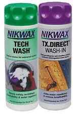 (euro 36,66/1 litros) 2x300 ml Nikwax Tech Wash + TX directamente detergente membrana