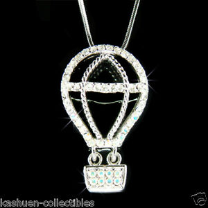 Image Is Loading W Swarovski Crystal Hot Air Balloon Jewelry Astronomy