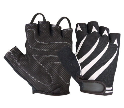 GRIP PADDED GYM GLOVES TRAINING FITNESS SPORTS CYCLING CYCLE BIKE CLEARANCE