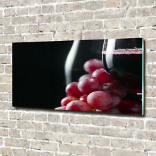 Glas-Bild Wandbilder Druck auf Glas 140x70 Deko Essen /& Getränke Wein Trauben