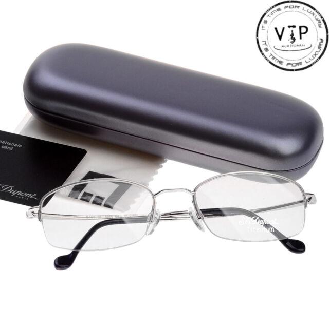 St.Dupont Lunette Glasses Sunglasses half-Frame Glasses New