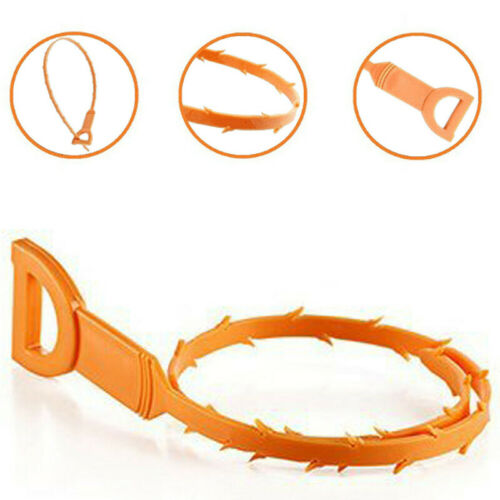 Abflußspirale Abflussreiniger Rohreiniger Abflussfrei Küche Badezimmer Orange