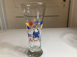 Bud Light Spuds Mackenzie 1987 Anheuser-Busch Chrismas holiday tall beer glass