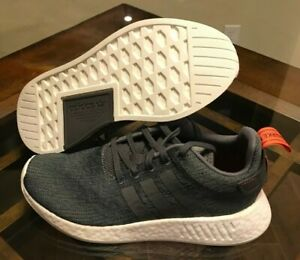 brand new 0a397 9aff1 Image is loading Adidas-NMD-R2-Boost-Grey-Orange-Future-Harvest-