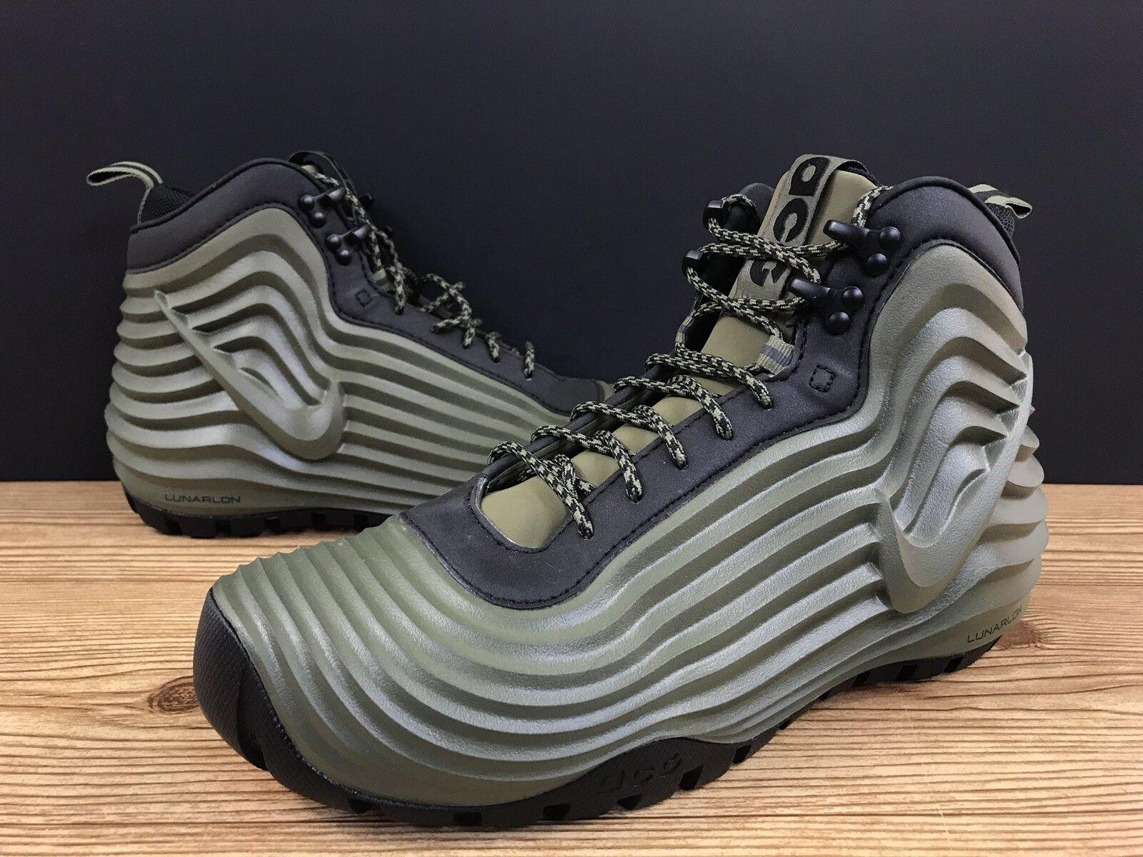 Nike Lunardome 1 Sneakerboot ACG 654867 220 Olive Black Sz 9 DEADSTOCK