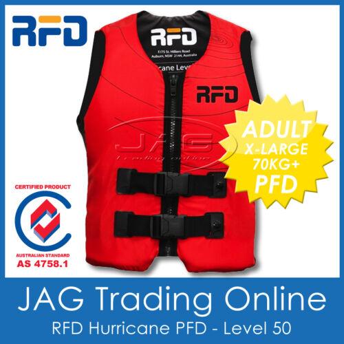 Level 50 Lifejacket//Vest RFD HURRICANE ADULT XL 70+KG PFD2 LIFE JACKET 50N