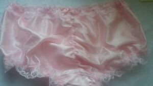 New-Deign-Pretty-Pink-Satin-Ruched-Men-039-s-Panties-Sissy-CD-TV