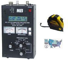 MFJ 269C HF/VHF/UHF Antenna  Analyzer  w/ FREE New Radiowavz Antenna Tape