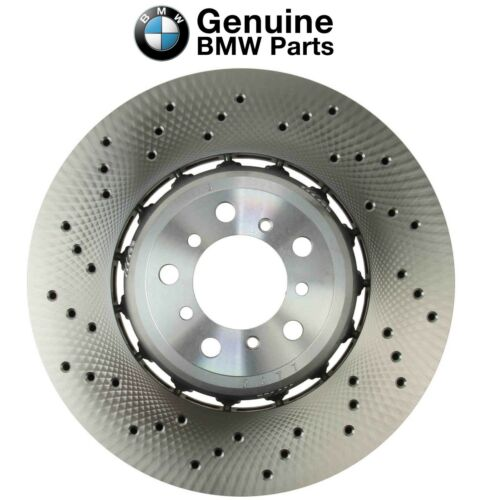 Front Driver Left Vented Drilled Floating Brake Disc OES For BMW F80 F82 F83 F87