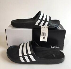 1ac9a1098 Adidas Men s Performance Duramo Slide Sandals G15890 Black New With ...