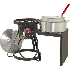 Outdoor Fryer Set Gas Stove Propane Stand W Pot Basket