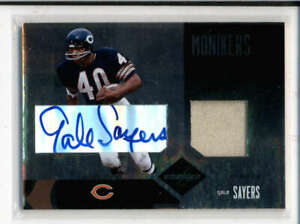GALE SAYERS / TOMLINSON 2004 LEAF LIMITED MONIKERS DUAL JERSEY AUTO #/10 FC9559