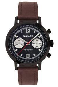 Gigandet-Tramelan-Orologio-da-Uomo-Cronografo-Data-Cinturino-in-pelle-Braun-Nera