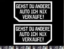 2xVisitenkarte nein danke Autohändler Aufkleber links rechts