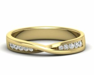 0-20CT-Round-Brilliant-Cut-Diamond-Half-Eternity-Wedding-Ring-in-18K-Yellow-Gold