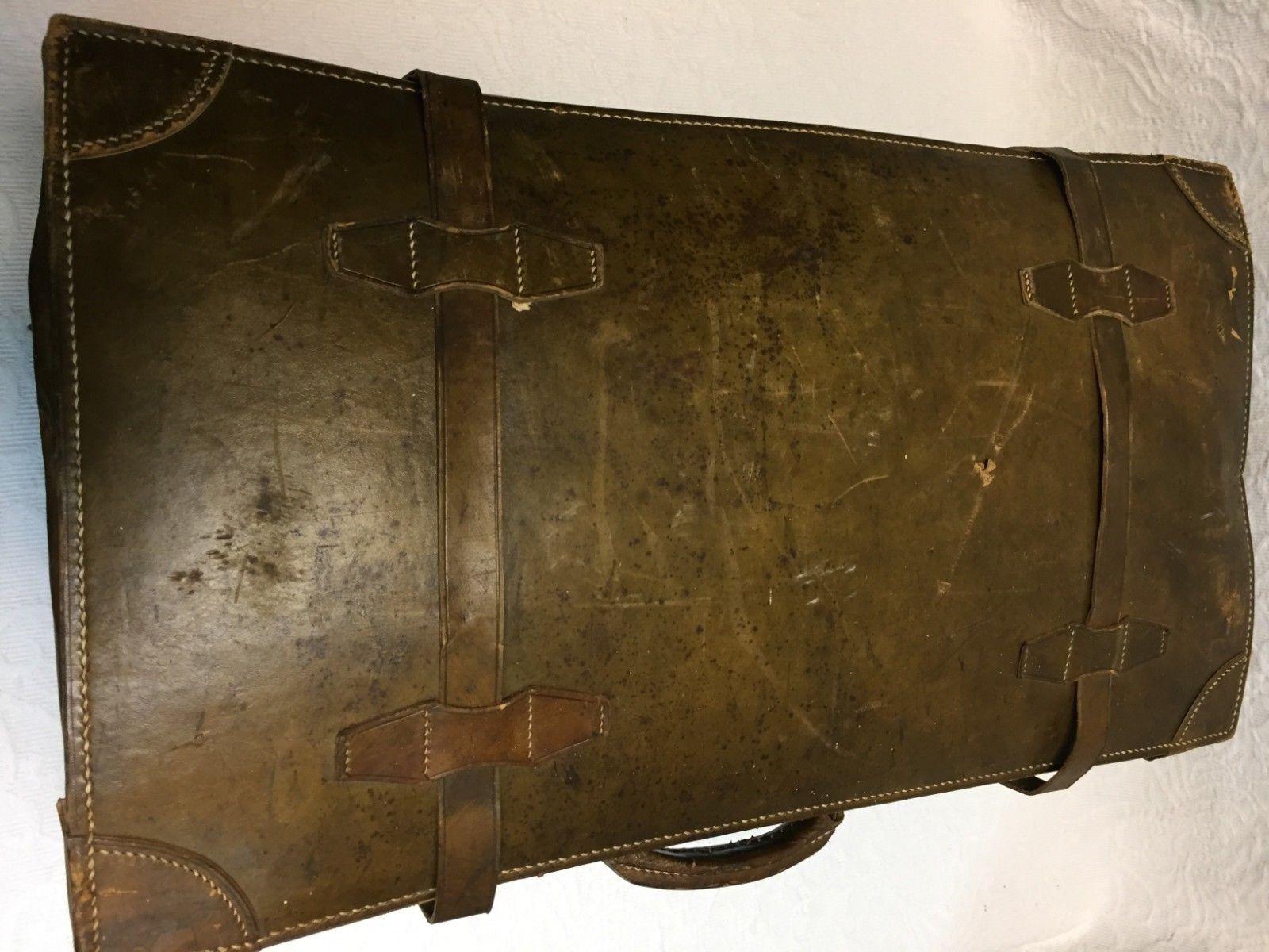 Vintage Marroneee Leather 25 X X X 8 X 13 Suitcase 281576