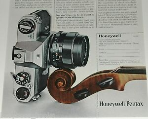 1972 Pentax advertisement page, Pentax Spotmatic II camera, Honeywell
